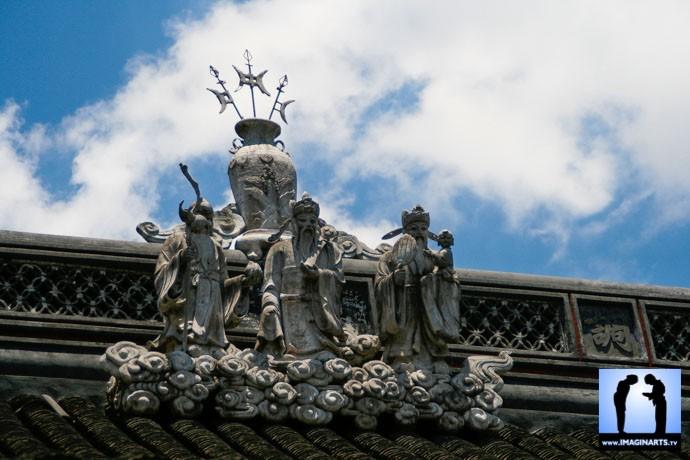 toit de temple à shanghai