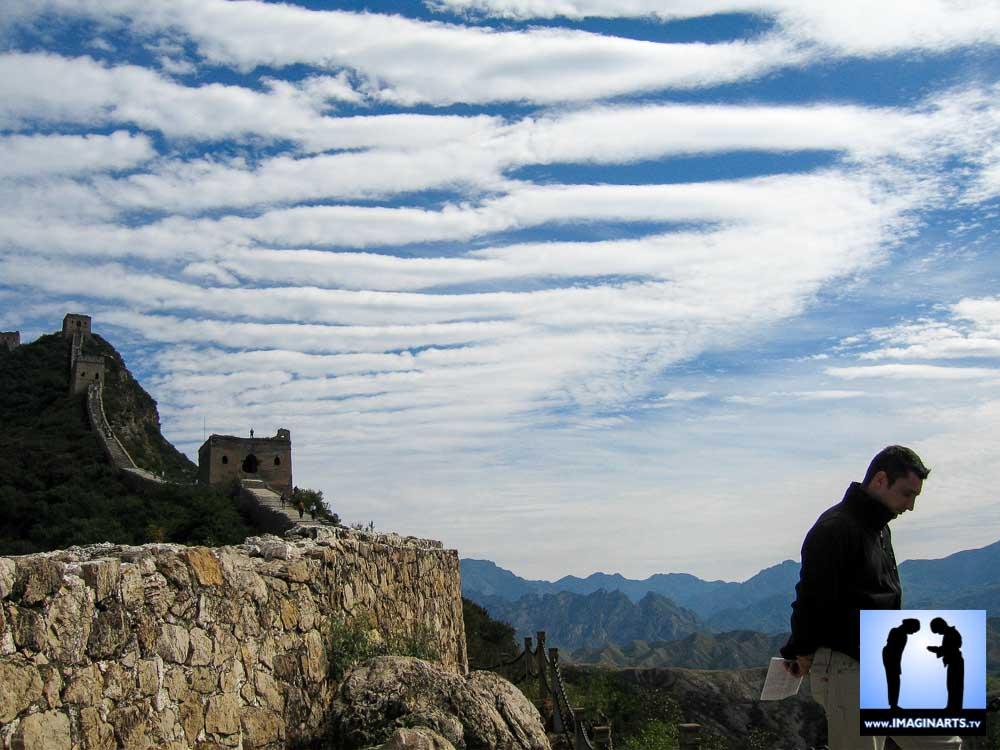 Lionel Froidure à la Grande Muraille de Chine