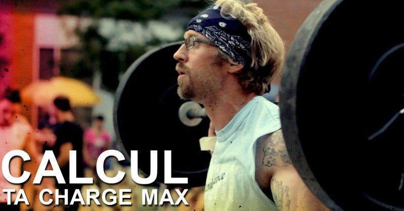 calcul ta charge max en musculation