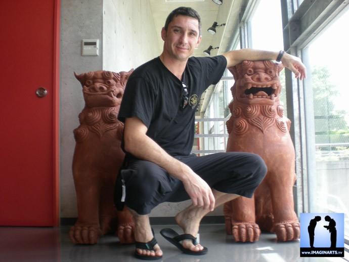 s'entraîner à Okinawa avec Lionel froidure en karaté