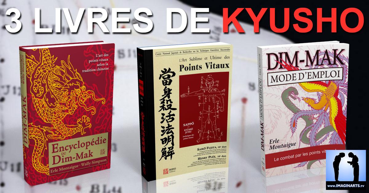 3 livres sur l'art des points vitaux  : Kyusho Waza / Jutsu