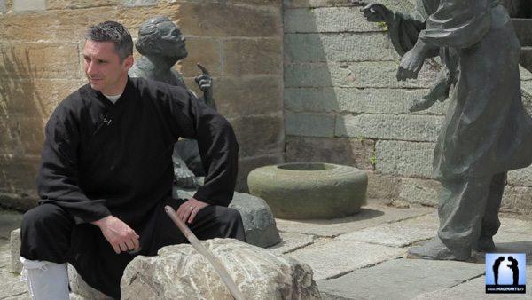 Lionel Froidure en tournage à Wudang Shan