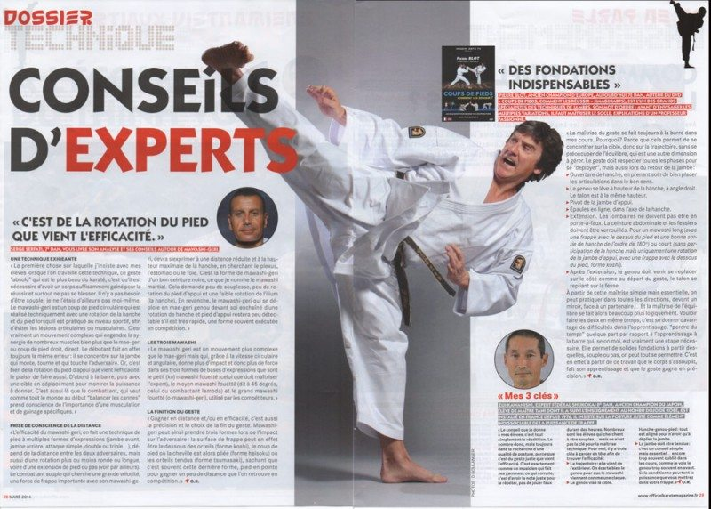 article de presse karaté - Pierre Blot