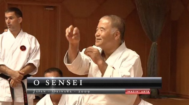 okinawa karate stage sensei