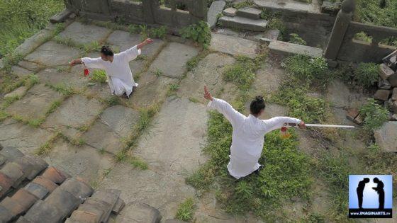 Travail de l'épée de Wudang par les disciples