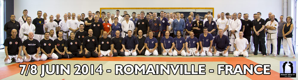 Photo de groupe avec sensei Chris Thomas en France 2014