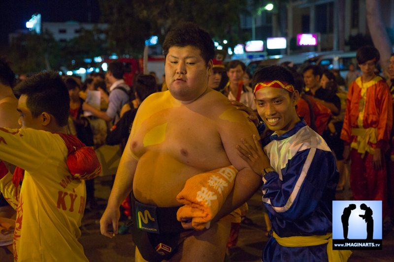 Festival vo co truyen Quy Nhon 2014 Vietnam sumo