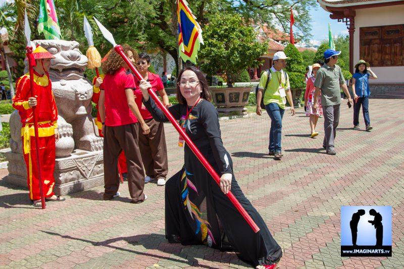 Maître Ho Hoa Hué au festival vo co truyen Cuy Nhon 2014 Vietnam