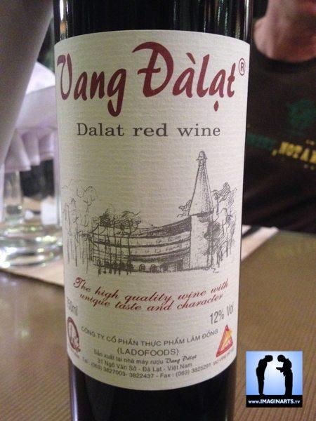 Vin rouge du Vietnam Dalat