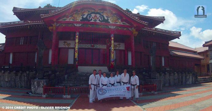 karate université toulouse à okinawa