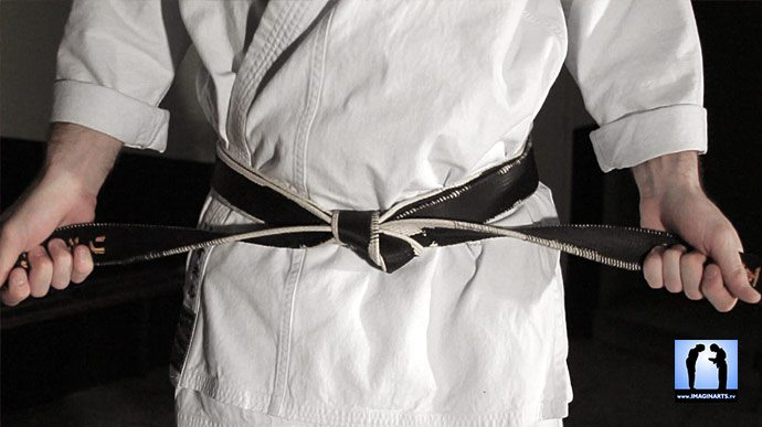Lionel en Karate-gi (tenue de karaté)