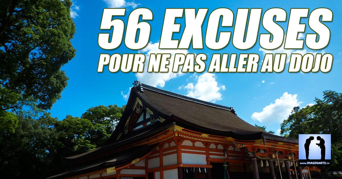 56 excuses pour ne pas aller au dojo