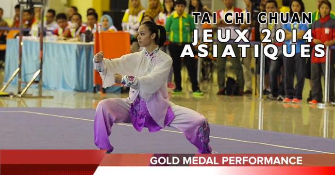 championne jeux asiatiques 2014 en Taichi