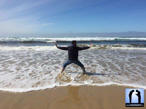 karate kata dans le sable à la plage avec Lionel Froidure