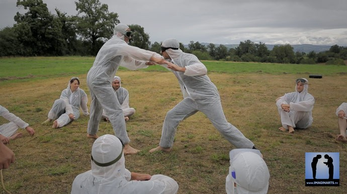 combat au couteau Kali Arnis Camp