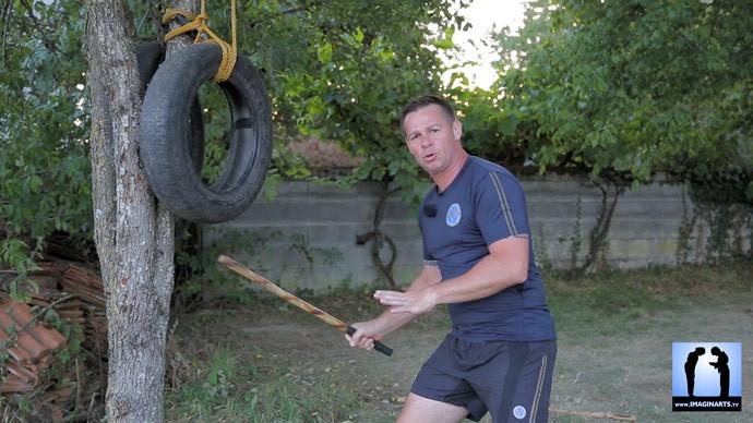 Arnis Kali - travail au pneu