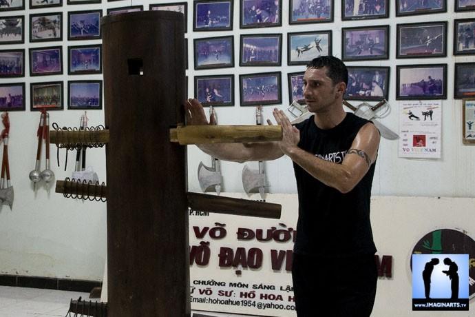 apprentissage Wing Chun Lionel Froidure au Vietnam