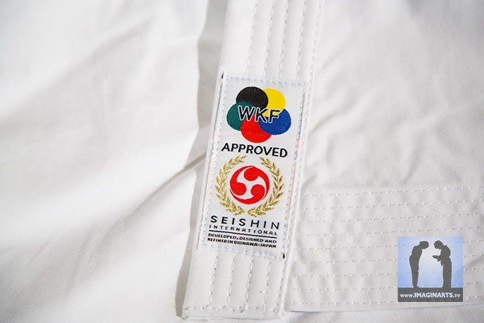 label wkf kimono seishin karate