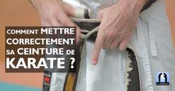 comment mettre sa ceinture de karaté vidéo avec Lionel Froidure