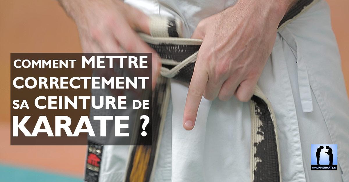 Comment mettre sa ceinture de karaté ? Jeudi Karaté #1