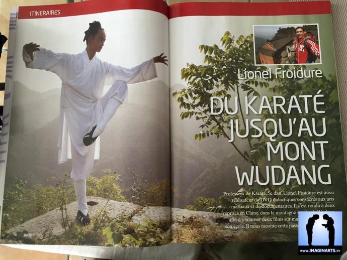 taichi magazine avec Lionel Froidure au mont Wudang
