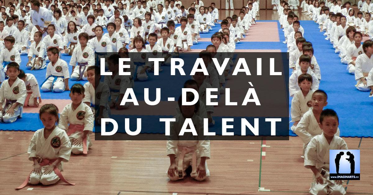 perseverance travail talent karate