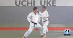 uchi uke karaté blocage de l'intérieur vers l'extérieur