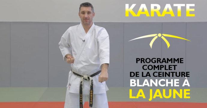 programme complet de karaté de la ceinture blanche à la ceinture jaune