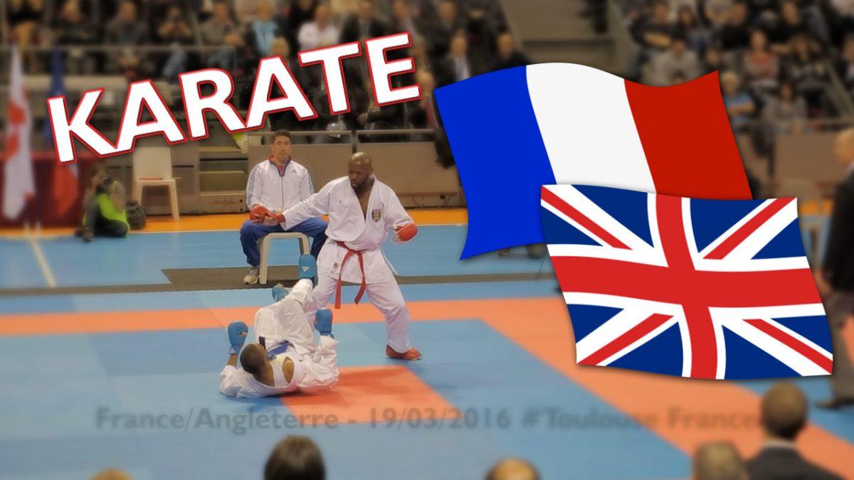rencontre karaté : la France affronte l'Angleterre
