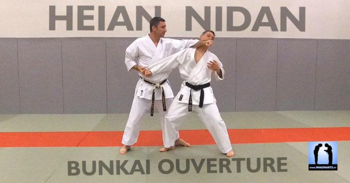 heian nidan bunkai karate avec lionel froidure