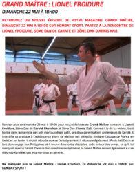 Lionel Froidure sur Kombat Sport dans grand maître