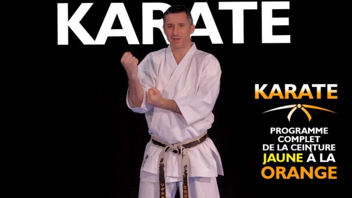 programme karate ceinture jaune à orange avec Lionel Froidure