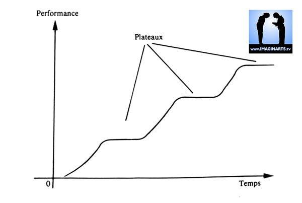 graphique performance sportive en plateau et dans le karaté