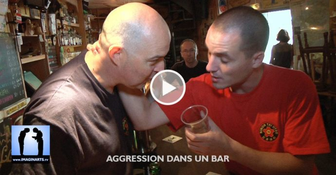 aggression dans un bar - self défense vidéo