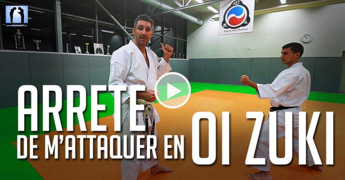 karate, arrête de m'attaquer en oi zuki