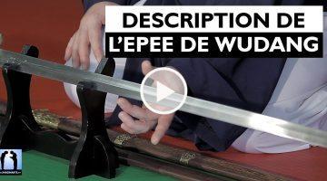 description épée de Wudang avec Charles-Henri Belmonte