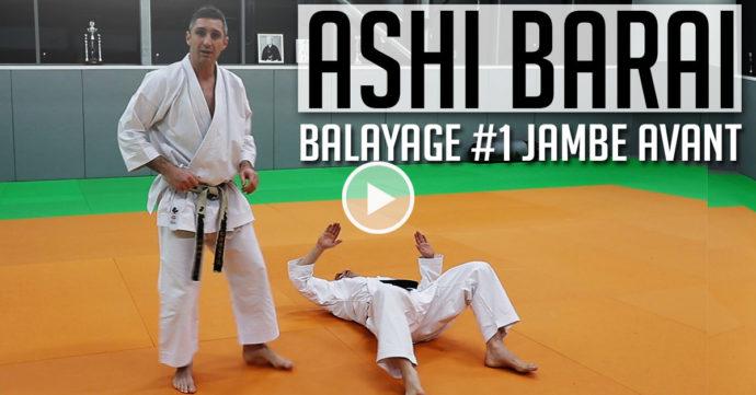 ashi barai karate - balayage jambe avant