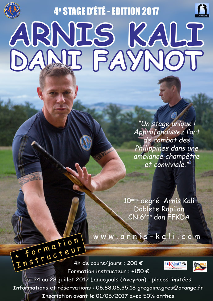 stage été 2017 arnis kali Dani Faynot