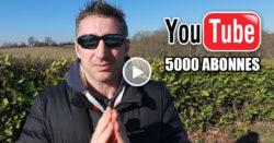 5000 abonnés youtube imaginarts arts martiaux karate