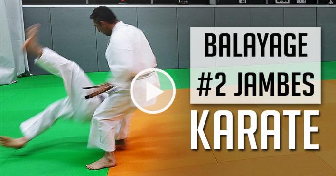 balayage 2 jambes karate