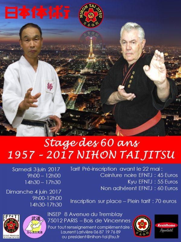 stage 60 ans Nihon Tai Jitsu