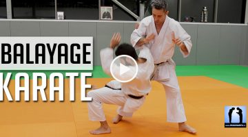 balayage karate avec Lionel Froidure