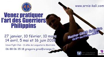 Stages Arnis Kali à Toulouse – de janvier à juin 2018