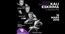 stage national arnis kali eskrima FFKarate Paris 2018