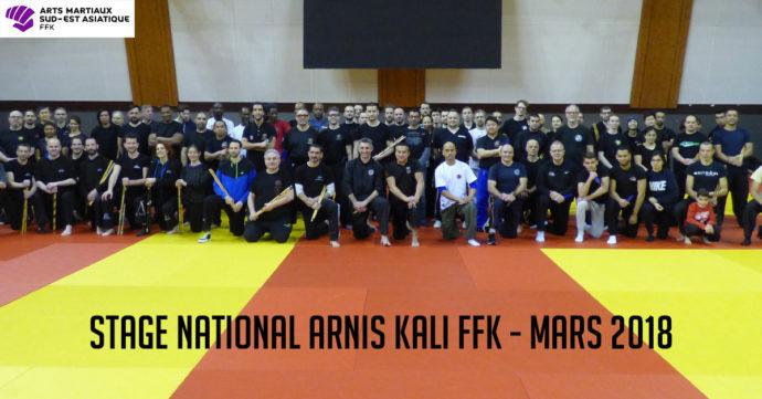 stage national arnis kali - photo de famille - mars 2018