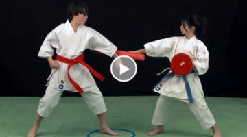 karate enfants cible et frite - video michel kervadec