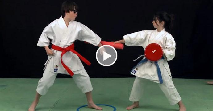 karate enfants cible et frite - video michel kervadec