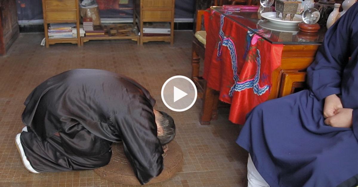 Cérémonie en Chine, à Wudang [vidéo]