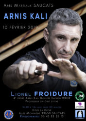 stage arnis kali à Saucats (33) avec Lionel Froidure