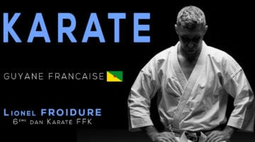 stage karate en guyane en avril 2018 avec Lionel froidure